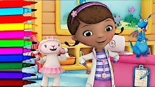 Disney Junior Doc McStuffins Time For Check Up Coloring Book Pages Doc Stuffy Lambie Hallie Chilly