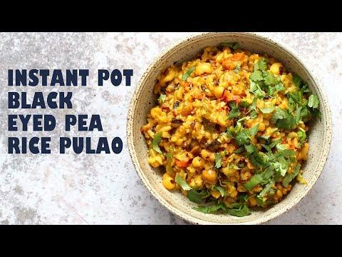 Instant Pot Black Eyed Peas Rice - Lobia Pulao | VEGAN RICHA RECIPES