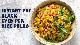 Instant Pot Black Eyed Peas Rice - Lobia Pulao | VEGAN RICHA RECIPES