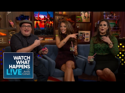 Katie Maloney, Kristen Doute, And Bobby Moynihan Play PumpParades - WWHL
