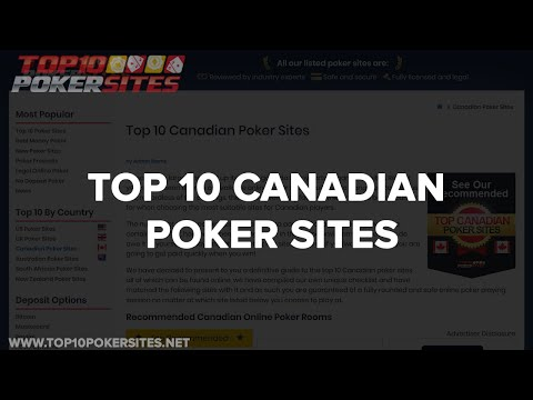 Top Canadian Poker Sites