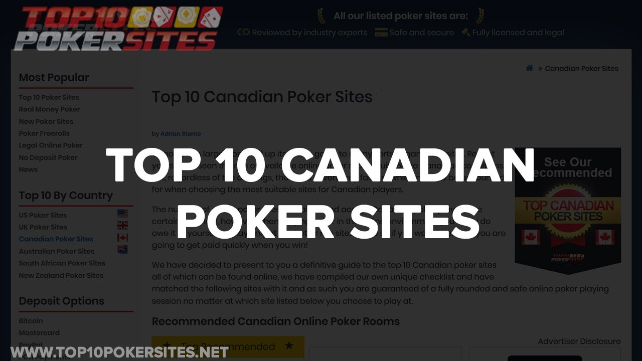 Best Poker Site Canada