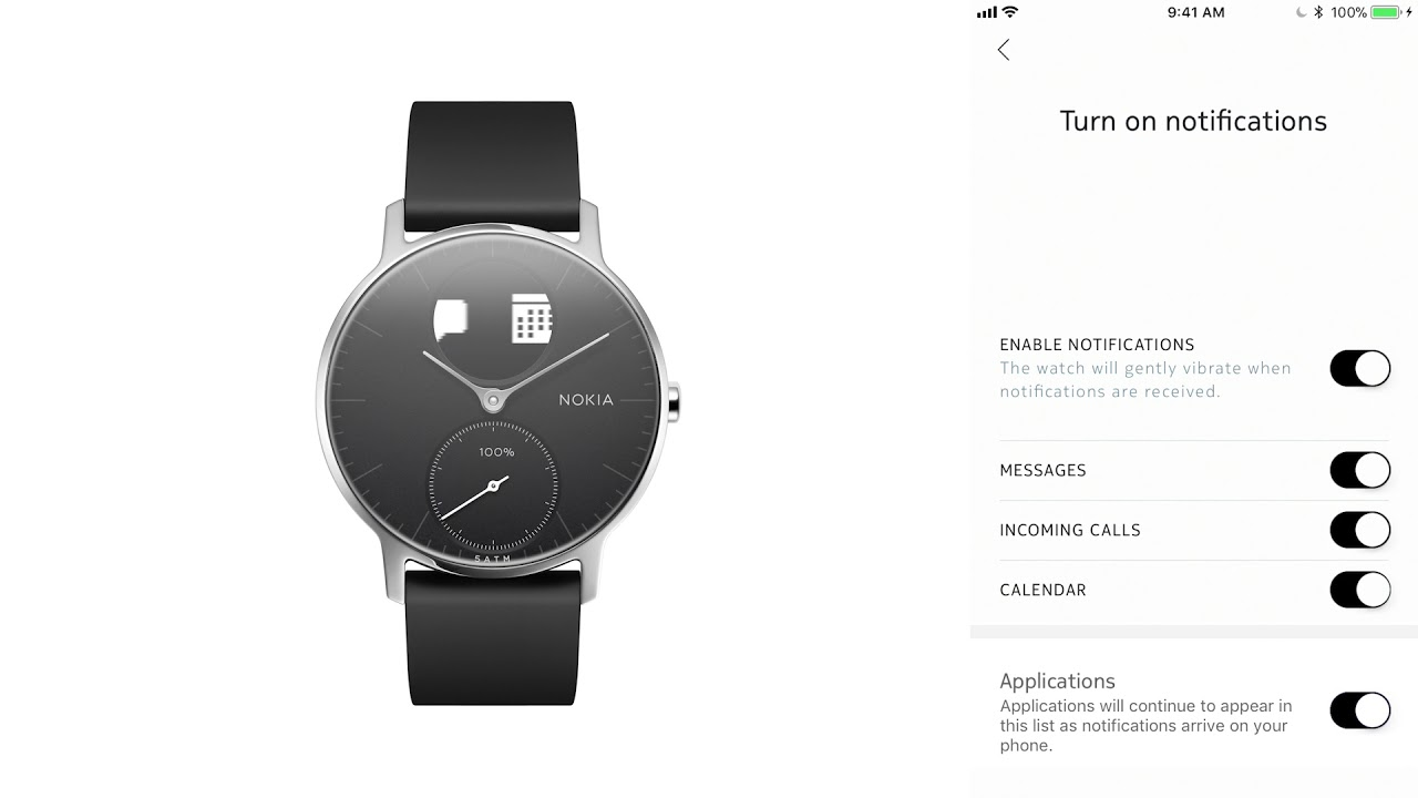 En How To Set Customize Notifications On Steel Hr Hybrid Smartwatch Youtube