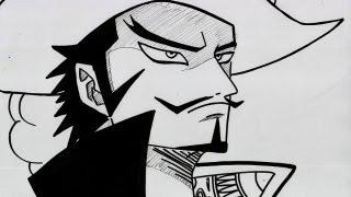 746 ] HOW TO DRAW MIHAWK ジュラキュール・ミホーク One Piece ワンピ...
