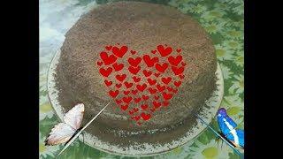 Бисквитный торт со сгущенкой🎂- Нежность🐞!Вкусный рецепт!