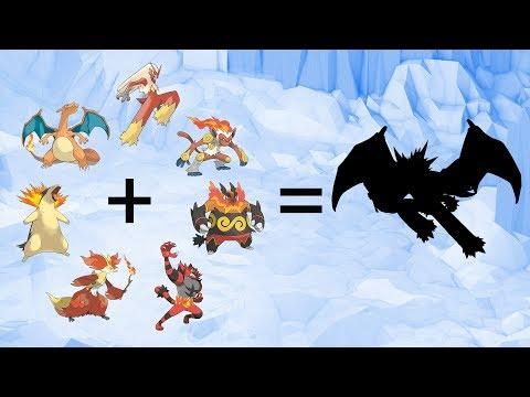 Requests #65 - Fusemon: All Final Form Fire Type Pokemon Starters Gen 1-7