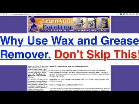 Best Wax And Grease Remover Before Paint