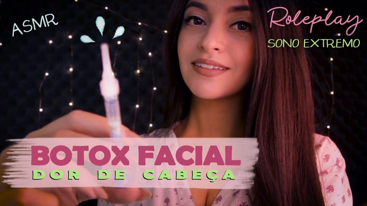 ASMR Preenchimento Facial pra Dor de Cabeça: Massagem, Clínica de Estética & SPA l ASMR BR