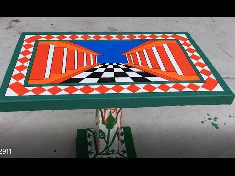 DIY - How To Make Table 3D With Cement Craft Ideas