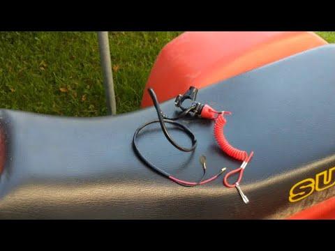 How to install lanyard kill switch on ATV / dirt bike. Suzuki 230 quadsport
