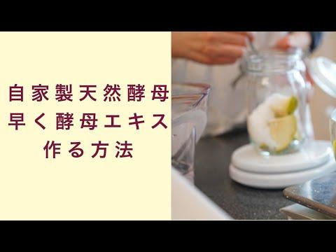 【自家製天然酵母】1日でも早く酵母エキスを作る方法 フルーツ酵母 自家製天然酵母 パン教室 教室開業 大阪 奈良 東京 福岡 名古屋