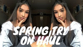 SPRING TRY ON HAUL 2018 | MissPap, JD, Boohoo & more.. | aneesah ♡