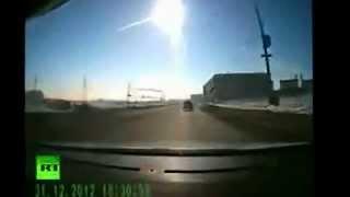 Incredible meteorite falling over Russia