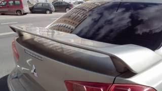 Спойлер sport 2 0 для Mitsubishi Lancer X /  Spoiler