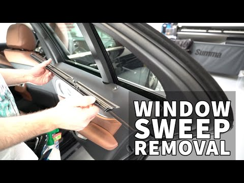 How To Remove The Window Sweep Mercedes C-Class And E-Class