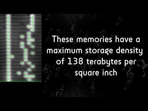 Music stored in smallest stable rewritable atomic memory