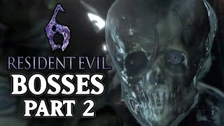 Resident Evil 6 [PS3] - All Bosses Compilation 2/2