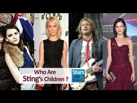 Who Are Sting's Children ? 3 Daughters And 3 Sons