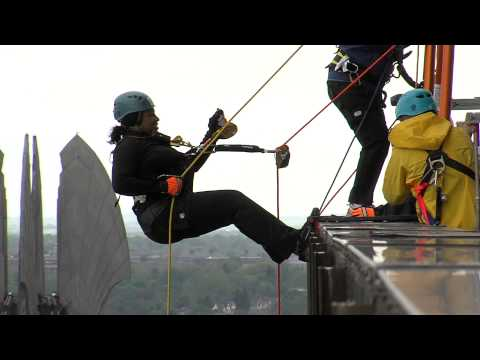 WXXI News: Mayor Lovely Warren Rappels Off of First Federal Bldg.