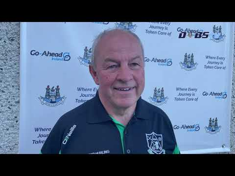 Lucan Sarsfields manager Sean McCaffrey speaks to DubsTV following win over St Judes