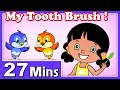 My Tooth Brush Rhymes | Plus Lots More Kids Nursery Rhymes| 27 Minutes Compilation From Magicbox video
