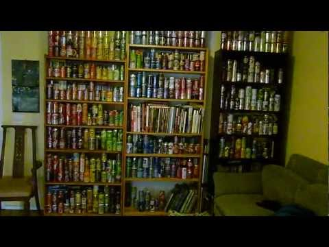 430 UNIQUE - WALL OF SOFT DRINK CANS COLLECTION