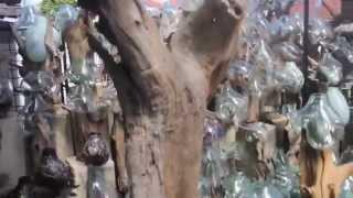 Studio Source Asia- Wood & Blown Glass Sculpture From Bali