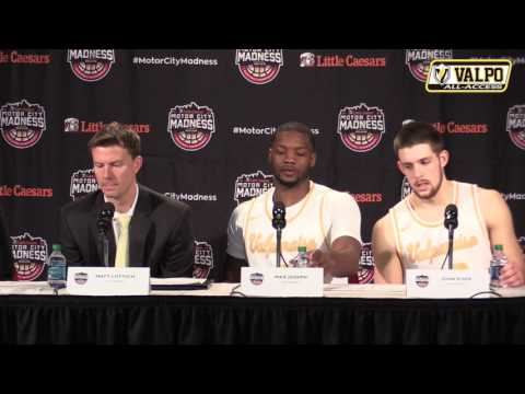 Valpo Basketball Press Conference | Horizon League Quarterfinal vs  Milwaukee
