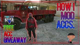 HOW I MOD ACCOUNTS+GIVEAWAY FREE ACC.  GTA V ONLINE 