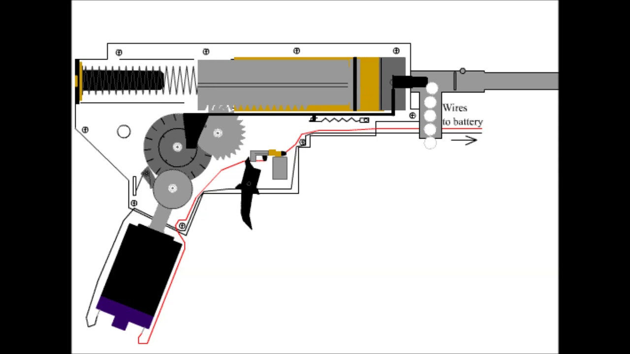 small resolution of how an airsoft gun gearbox works