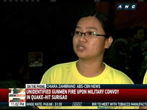 Military convoy fired upon in Surigao del Norte