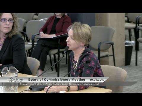Prosper Portland Board of Commissioners Meeting 10/25/17