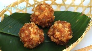 Vietnamese sweet rice flake meatballs (Chả cốm)