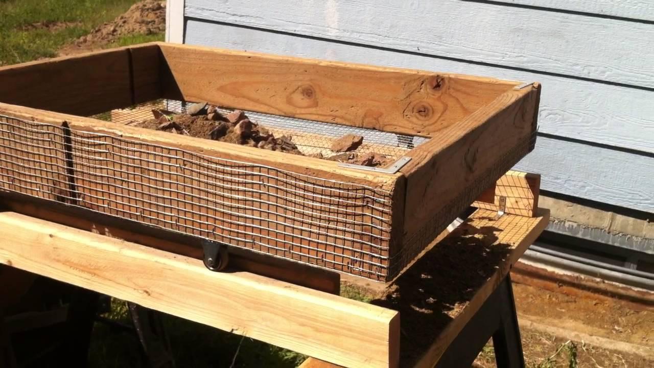 Dirt soil rock compost sieve sifter fast efficent for Garden separator