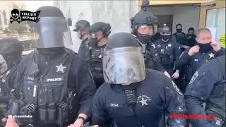 Oregon State Police Pepper Spray Lockdown Protester