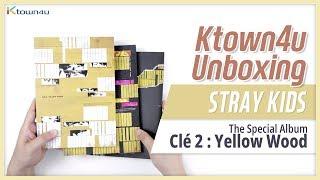 "🎁Unboxing & Giveaway STRAY KIDS ""Clé 2: YELLOW WOOD"" special album ストレイキッズ 스트레이키즈 언박싱 Kpop Ktown4u"