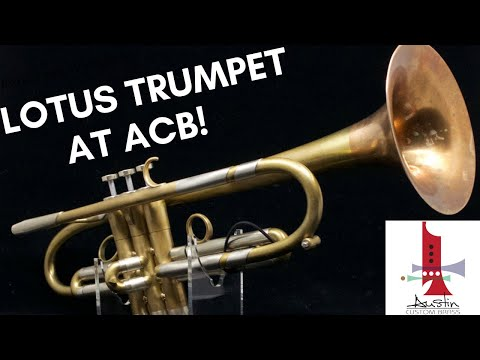 Pre-Owned Custom Lotus trumpet in raw brass: One of the finest on the market!