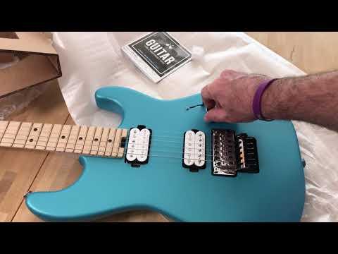 Charvel Pro-Mod San Dimas Style 1 HH FR - Matte Blue Frost unboxing