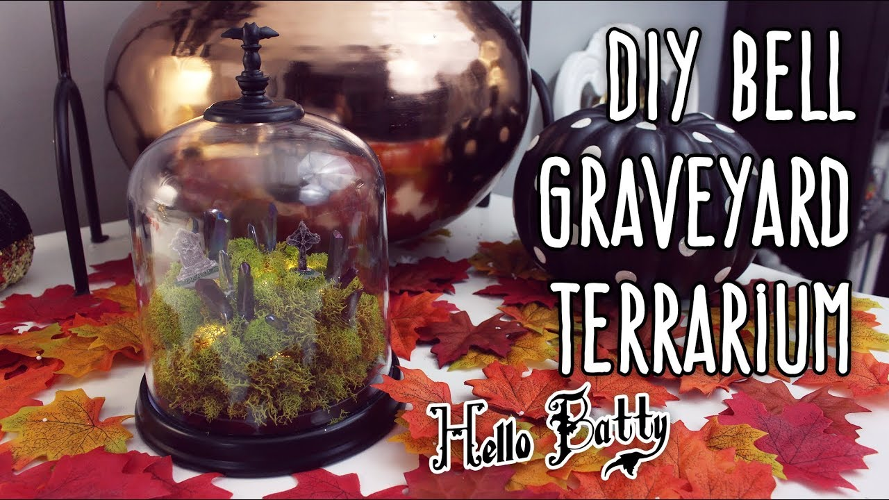 Diy Graveyard Bell Terrarium 31 Days Of Halloween Youtube