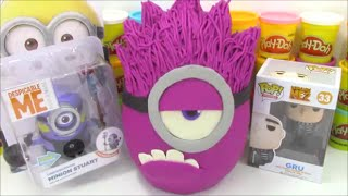 Giant Purple Minion Playdoh Surprise Egg with Despicable Me Toys