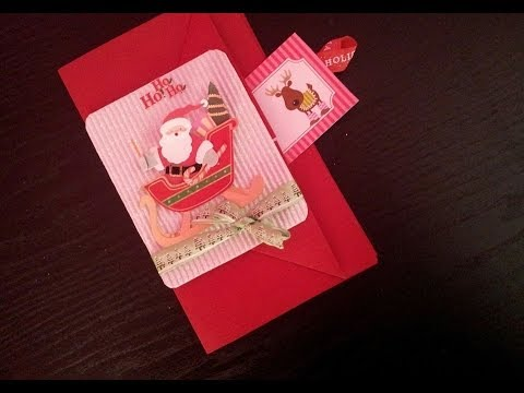 Especial de navidad 2013 como hacer una tarjeta con - Como hacer targetas de navidad ...