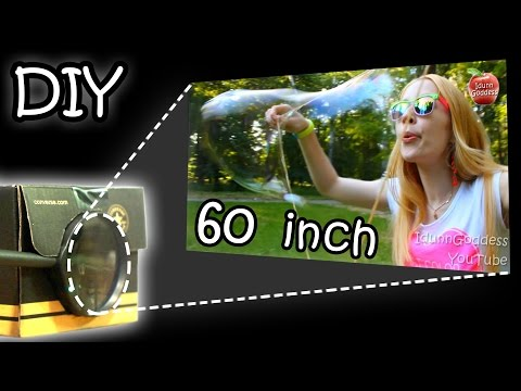 DIY Smartphone Projector - How To Make Your Phone Image 15 Times Bigger (Tutorial)