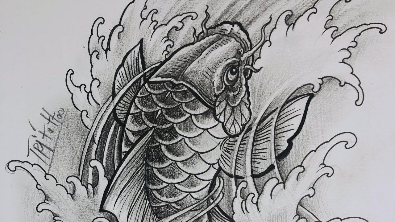 Học Xăm Bài 8 , Hướng Dẫn Vẽ Hình Xăm Cá Chép , Vẽ Và Tô Bóng Hình Cá Chép Như Thế Nào | Bao quát những tài liệu về hjnh xam ca chep hoa rong đầy đủ nhất