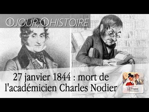 27 janvier 1844 : mort de l�émicien Charles Nodier