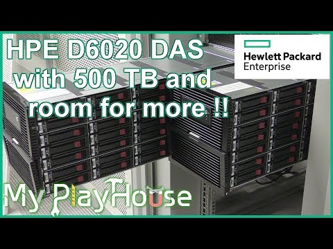 Rack Mounting a 500TB+ HPE D6020 Disk Enclosure - 649