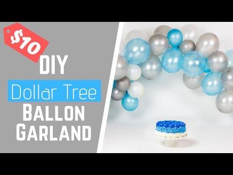 $10 Dollar Tree DIY Balloon Garland For A Cake Smash Photo Shoot