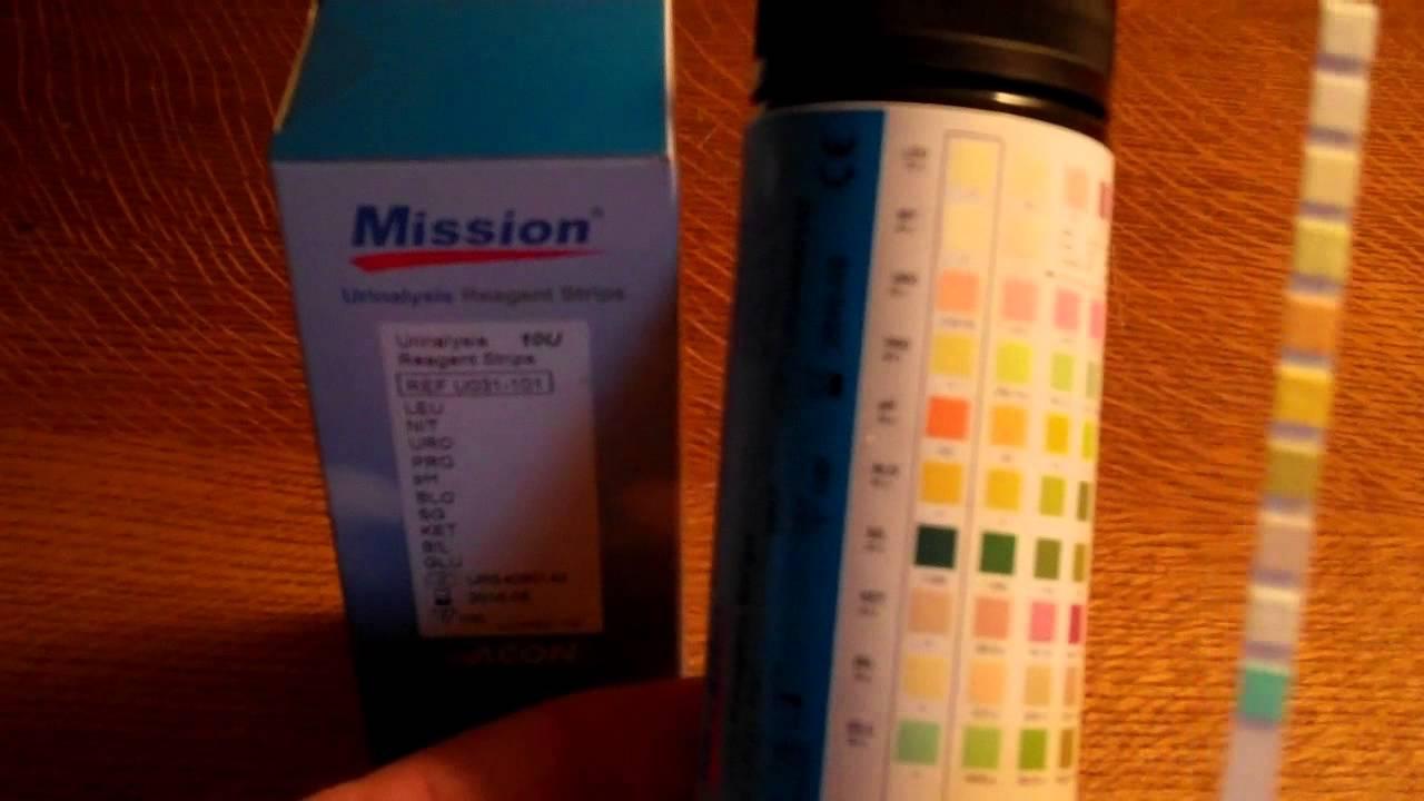 10 Parameter Urinalysis Test Strip Review Mission Urine Testing Strips