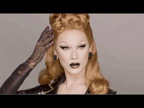Bronze Glitter Lip Makeup Tutorial - Vintage Glamour