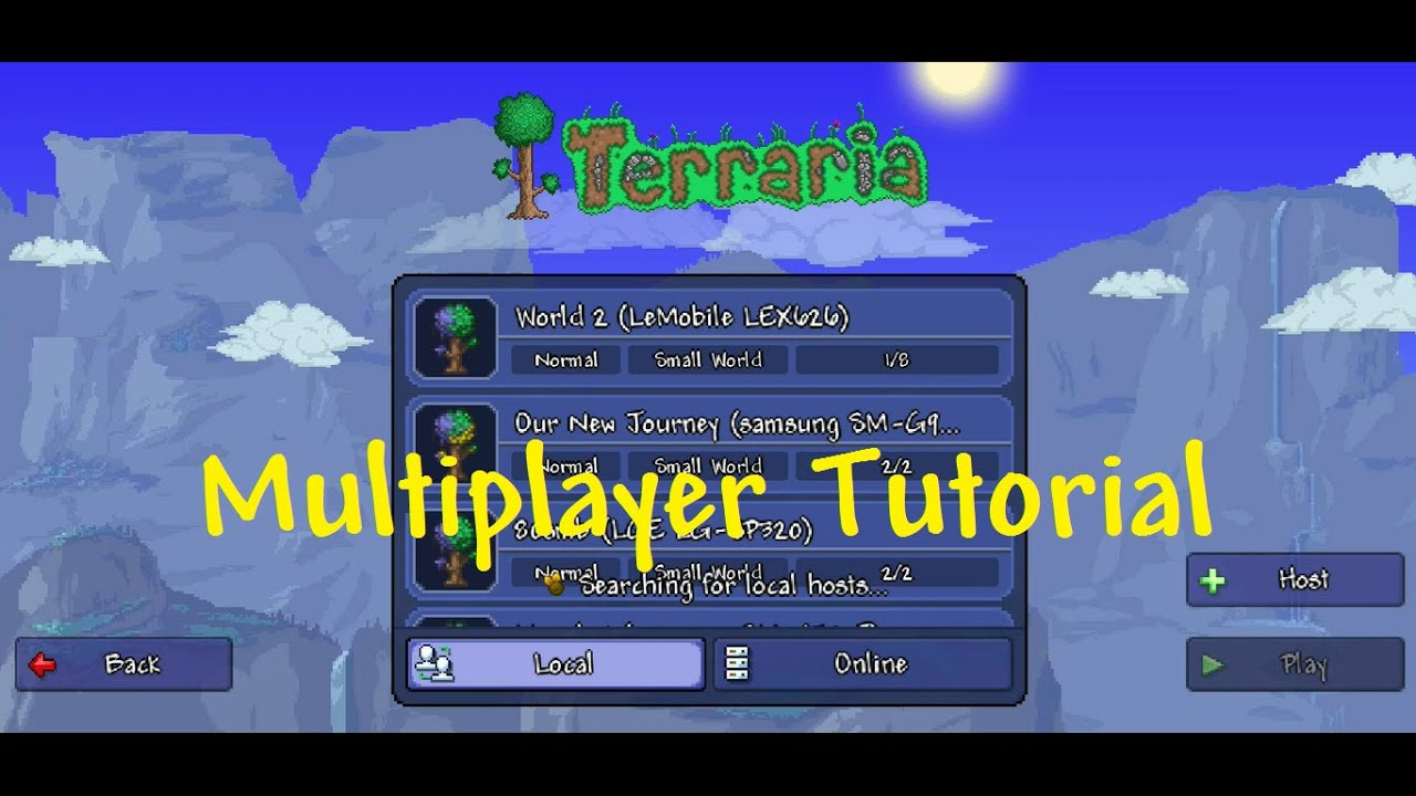 Terraria 1 3 0 7 1 Mobile - CONNECTING TO MULTIPLAYER TUTORIAL