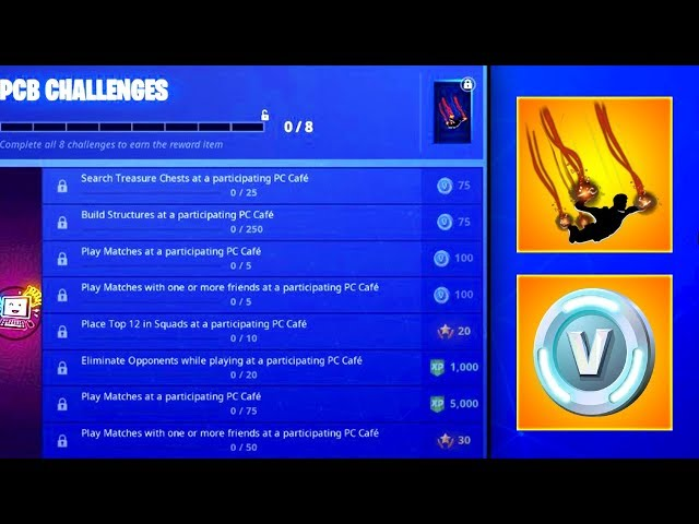 *NEW* How To Get FREE V-BUCKS & Embers CONTRAIL! Fortnite LEAKED PCB CHALLENGES GUIDE (EXPLAINED)